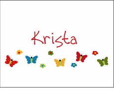 Primary Butterfly Row Note Cards