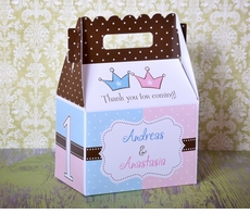 Prince and Princess Crowns Party Gable Box Favor
