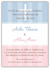 Twins Baptism Invitations