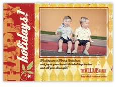 Retro Harlequin Photo Holiday Card