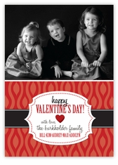Retro Wave Valentine�s Day Photo Card