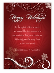 ruby elegance corporate christmas card - Business Christmas Cards