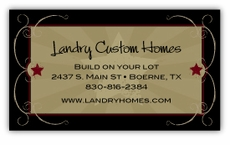 Rustic Western Style Business Cards
