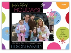 Sassy Spots Neon Fun Photo Holiday Card