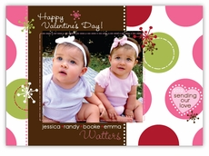 Sassy Spots Photo Valentine�s Day Card