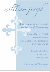 Serendipity Cross Boy Baptism Invitation