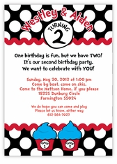 Mickey Minnie Twin First Birthday Party Invitations Amys Card