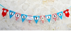 Seuss Spots Twins Baby Shower Pennant Banner