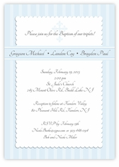 Simply Splendid Boy Triplets Baptism Invitation