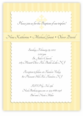 Simply Splendid Girl Boy Triplets Baptism Invitation