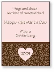 Soft Swirls Personalized Valentine