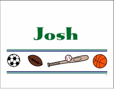 Sports Line Note Cards