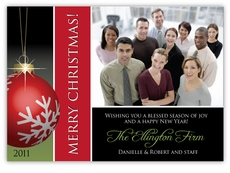 Stunning Salutation Corporate Holiday Photo Card