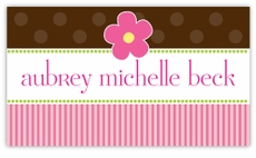 Sweet as Pie Girl Calling Card