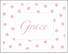 Sweet Pink Dots Note Card