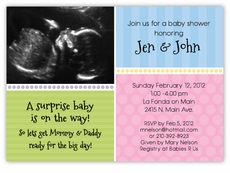 2c073e835 Sweet Sonogram Photo Gender Neutral Baby Shower Invitation