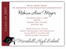 Sweet Success Graduation Invitation