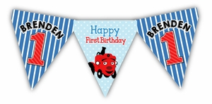 Tec the Tractor Birthday High Chair Banner