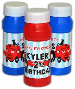 Tec the Tractor Party Personalized Bubbles Favors