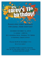 personalized kids birthday cards party invitations amy s card