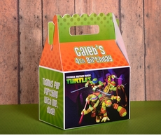 Teenage Mutant Ninja Turtles Party<br>Personalized Gable Box Favor