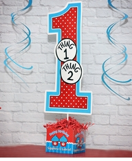 Thing 1 2 Cupcakes Birthday Party Large Personalized Table Centerpiece BIG ONE