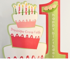 Triplet Peas in a Pod First Birthday<br>Personalized Table Centerpiece