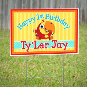 VocabuLarry Personalized Party Yard Sign
