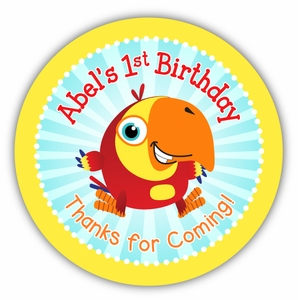 """VocabuLarry Party Personalized 3"""" Stickers"""