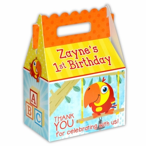 VocabuLarry Party Personalized LARGE Gable Favor Box