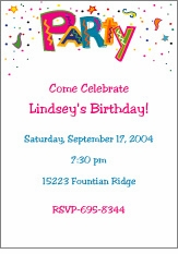 Wild Party (Bright) Invitation