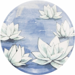 Blue Lotus Melamine Lunch Plate