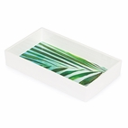 Palm Melamine Guest Towel Tray