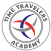 "Time Travelers Academy ® car window sticker  3""  x   3"""