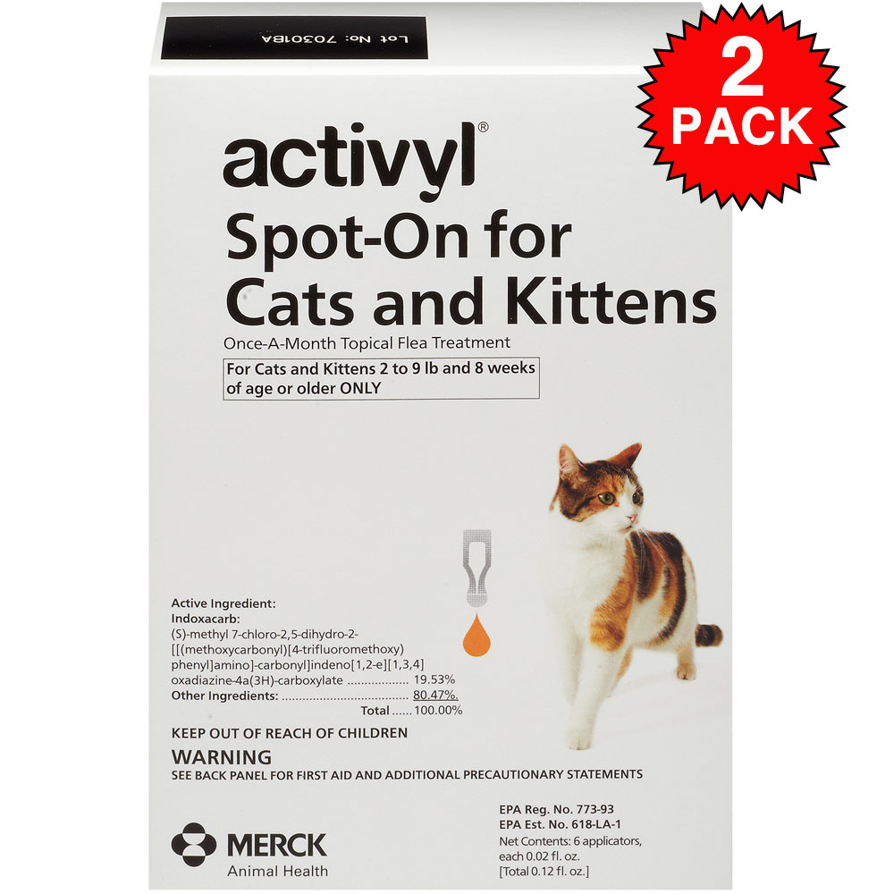 12 month activyl spot on for cats kittens 2 9 lbs 39