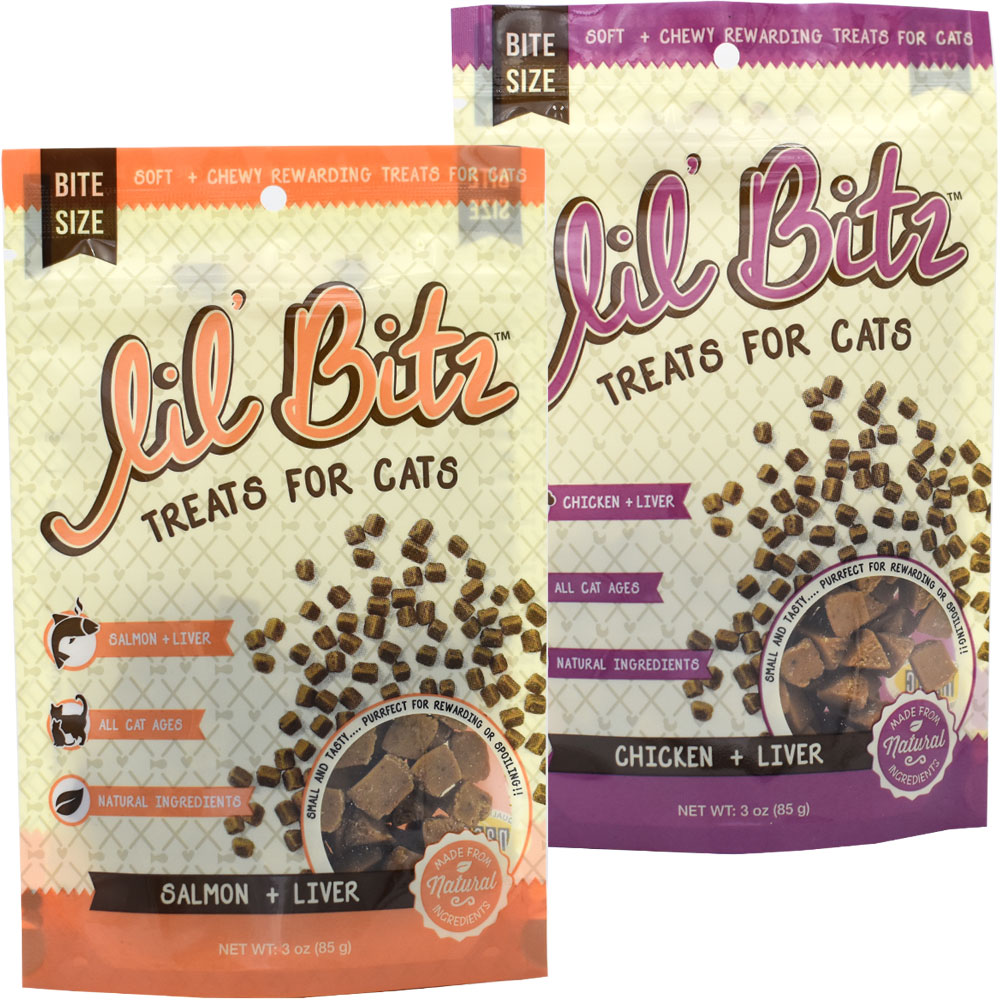 2 pack lil bitz training treats for cats assorted pack 6 oz 12
