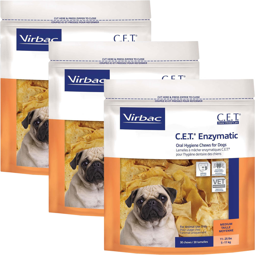3 pack cet chews for medium dogs 90 chews 13