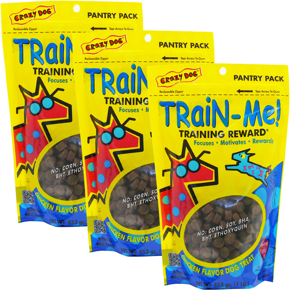 3-PACK Crazy Dog Train-Me! Training Treats Chicken Flavor (3 lb) C98717PK3