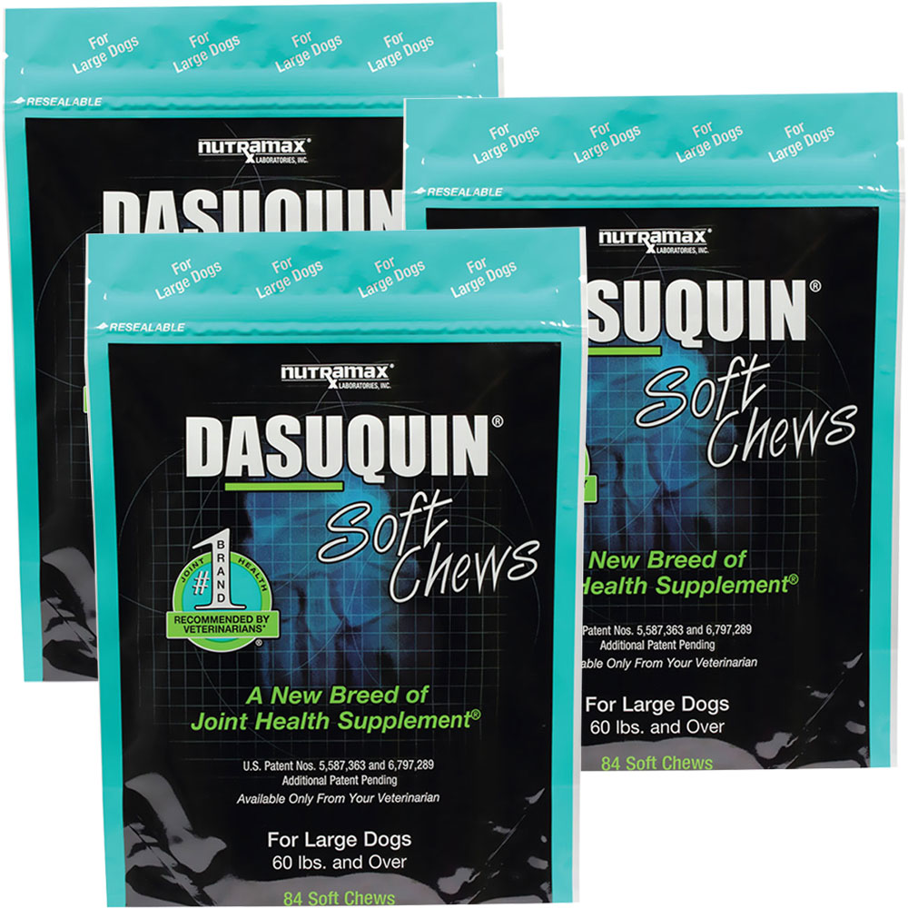 3 pack dasuquin soft chews for large dogs 252 chews 39
