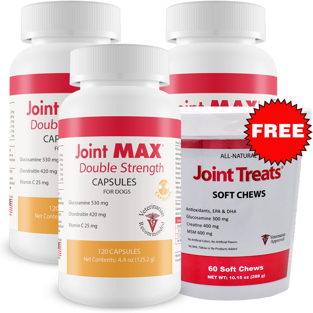 3 pack joint max double strength capsules 360 count free joint treats 27