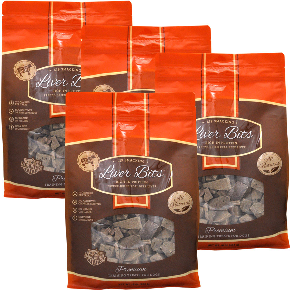 4 pack liver bits treats for dogs economy size 4 lbs 19