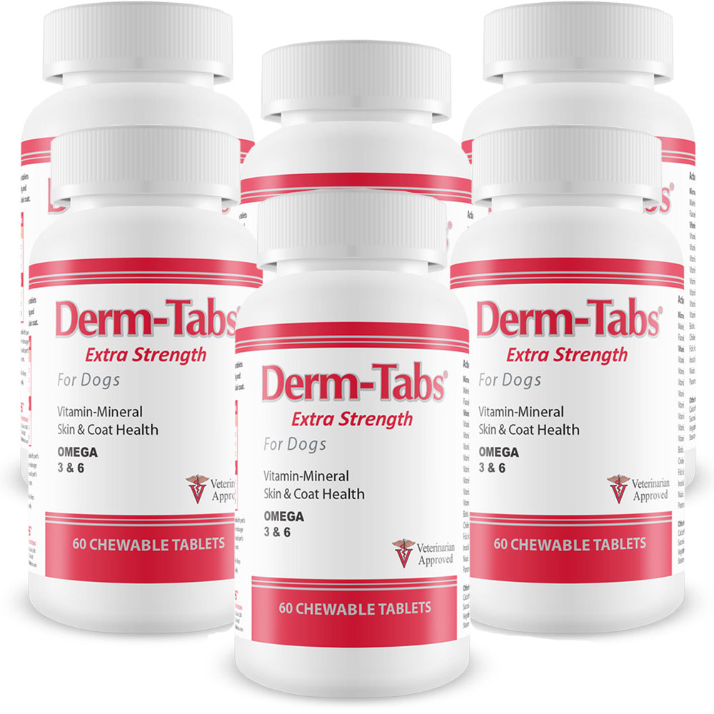 6-PACK Derm-Tabs Extra Strength for Dogs (360 Chewable Tablets) DERMTES6PK