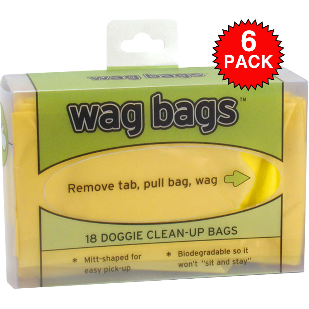 6 pack wag bags doggie clean up bags 108 count 25
