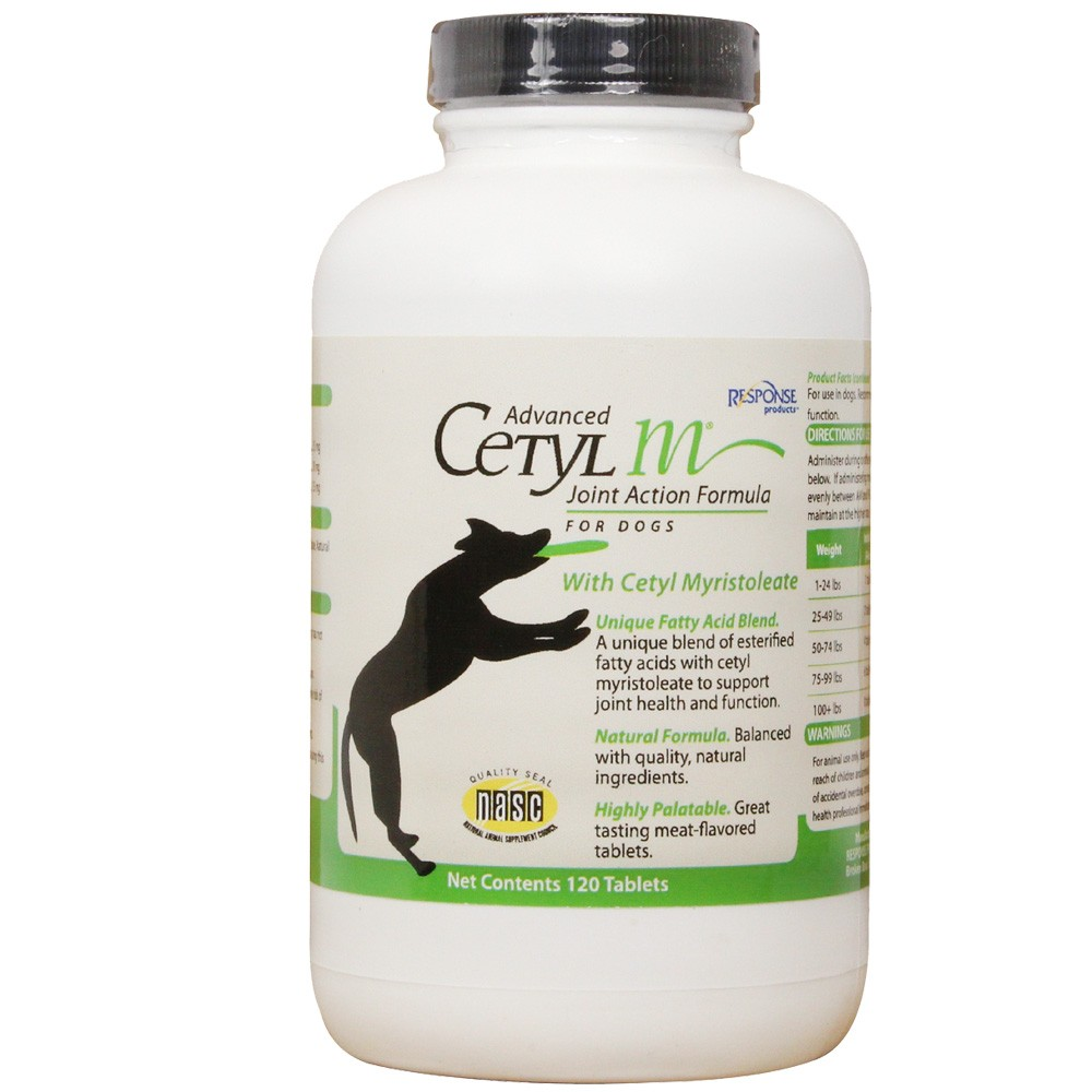 Advanced cetyl m for dogs 120 tablets 12