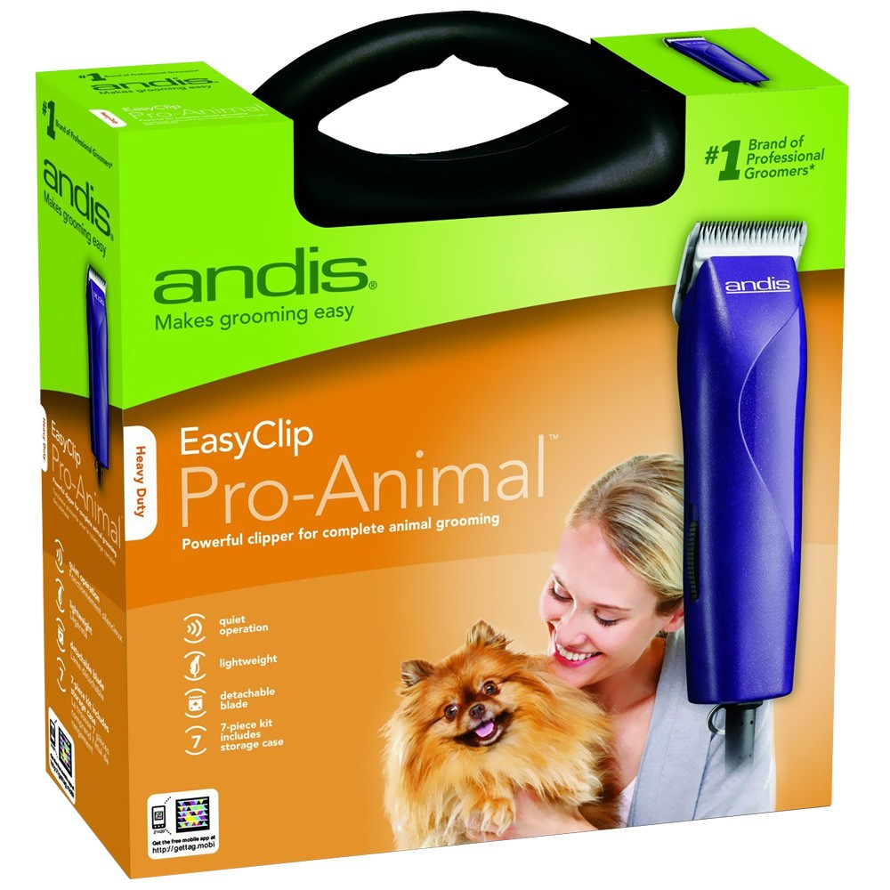 Andis EasyClip Pro-Animal Pet Clipper Kit (7 Pieces) MBG21420