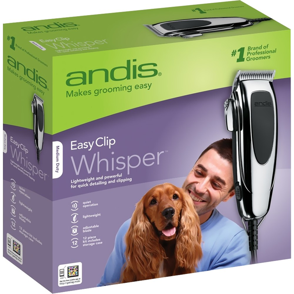 Andis EasyClip Whisper Super Deluxe Pet Clipper Kit (12 Pieces) PM123585