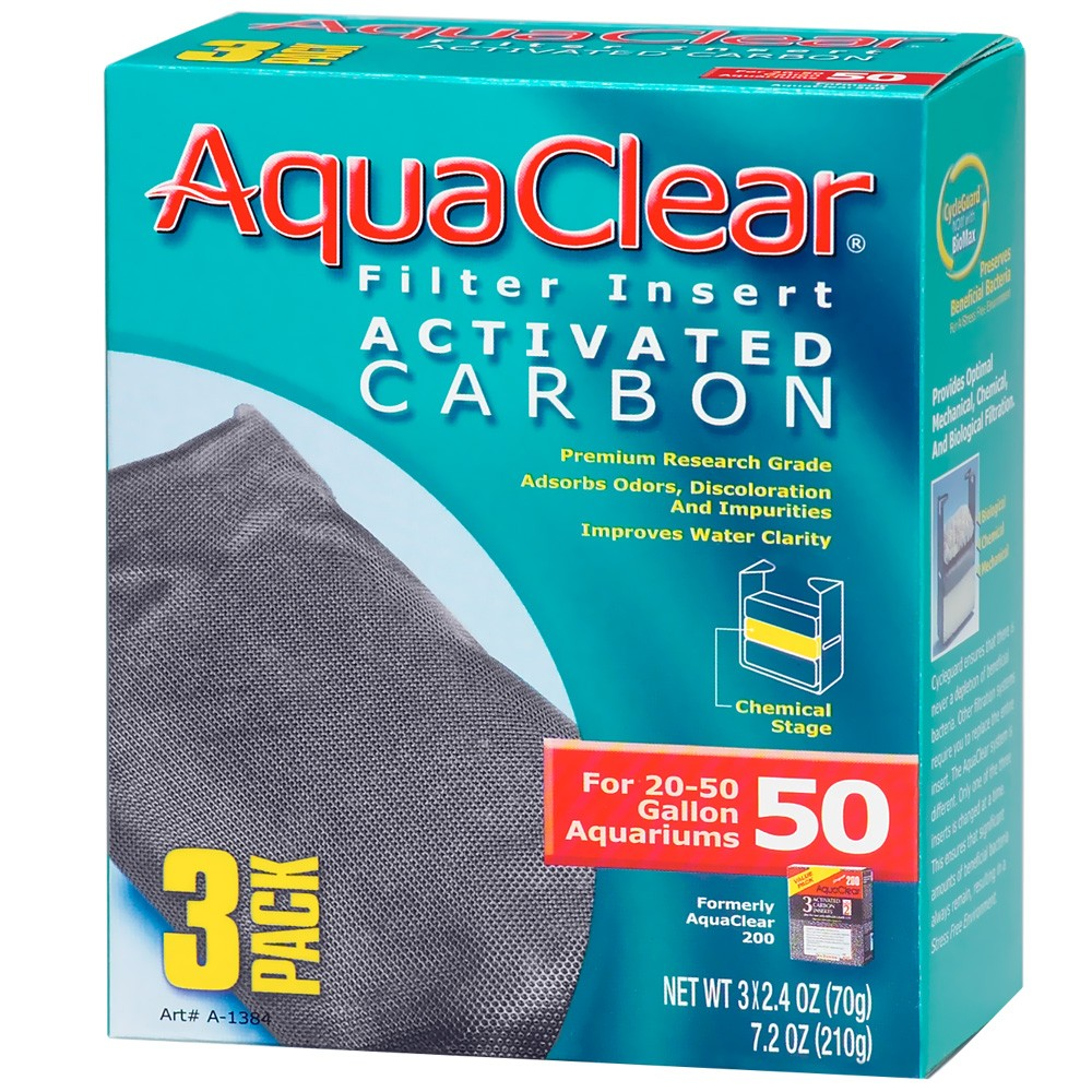 AquaClear 50 Filter Insert Activated Carbon (3 pack) A1384