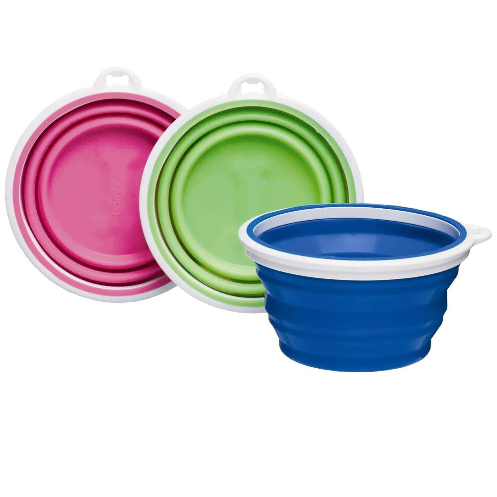 Bamboo Silicone Travel Bowl 1 Cup - Assorted 810281