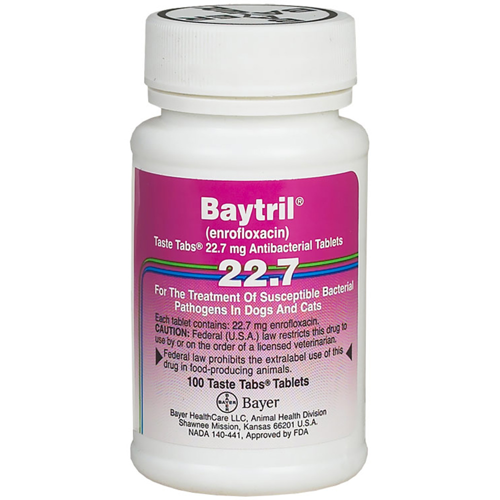 Baytril 22.7mg (100 Taste Tablet)