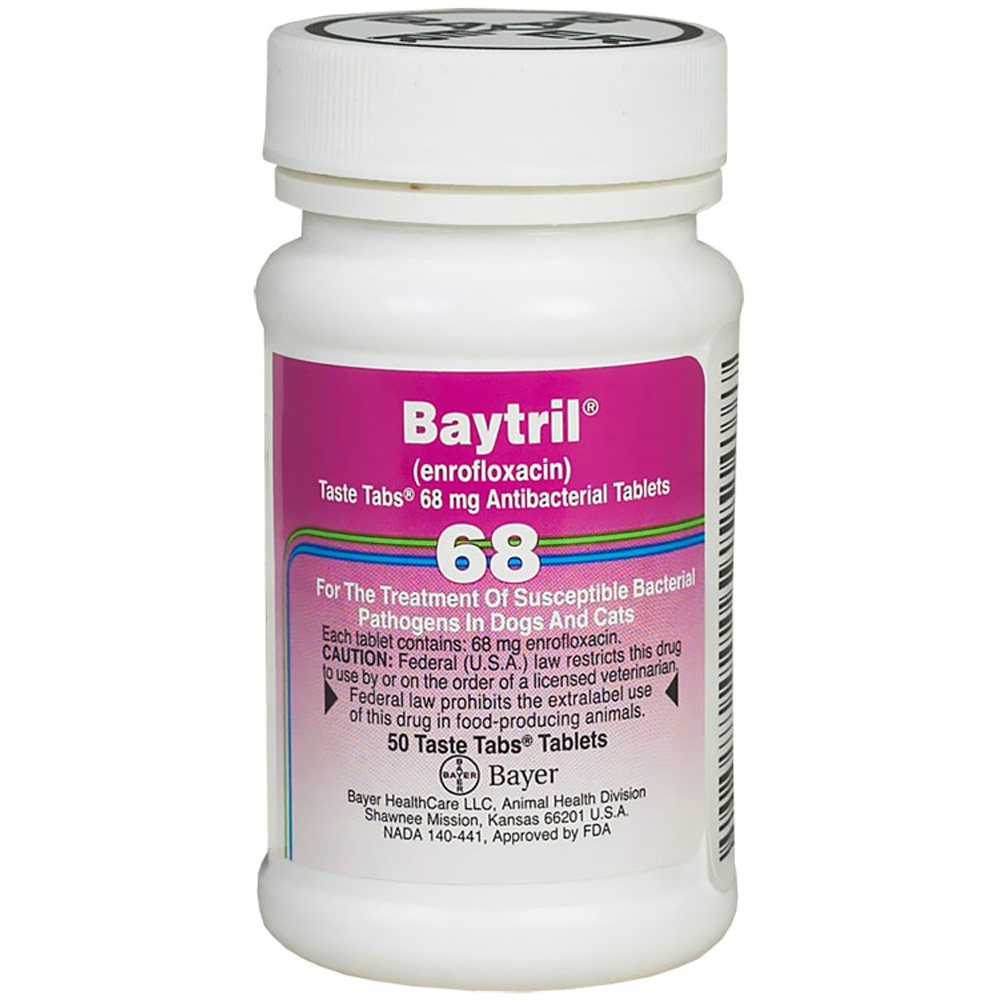 Baytril 68mg (50 Taste Tablet)